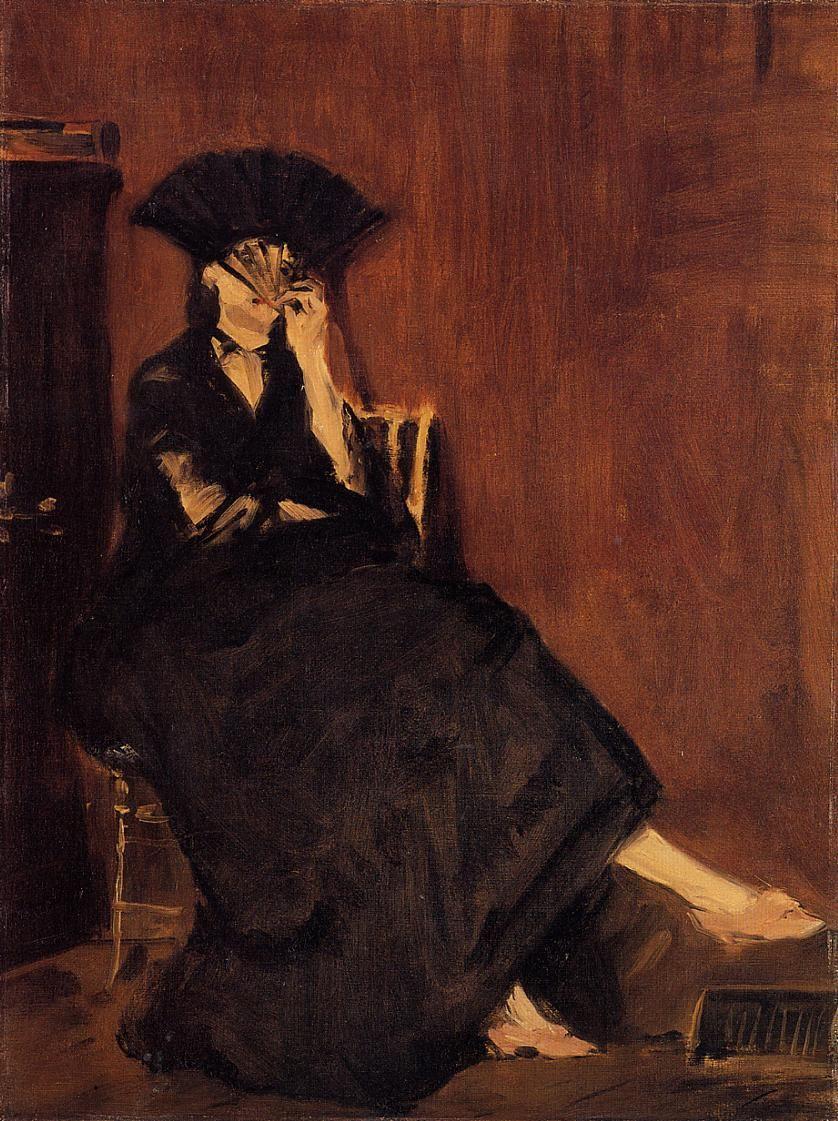 Edouard Manet. Berthe Morisot with a fan
