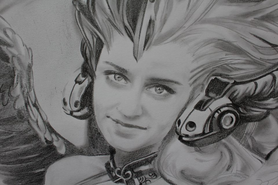 Shop Artists. Portrait of a girl. Fantasy