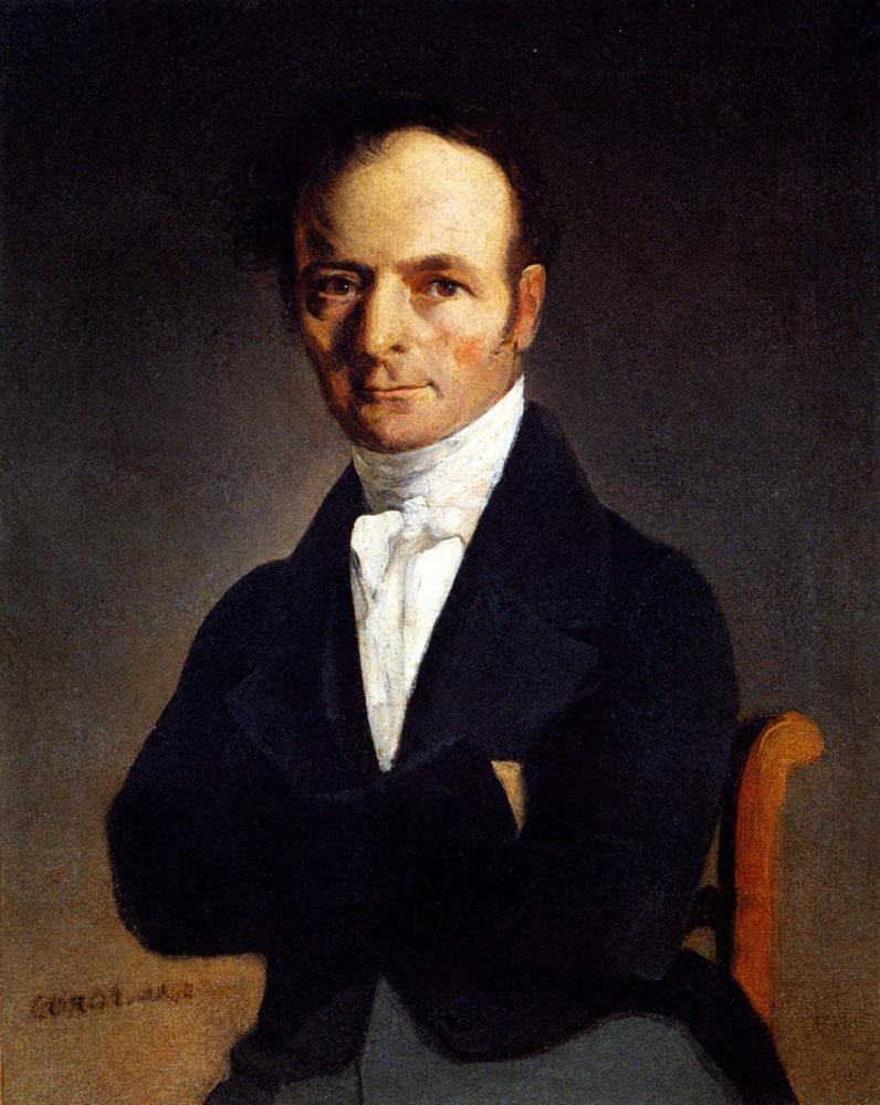 Камиль Коро. Портрет мужчины