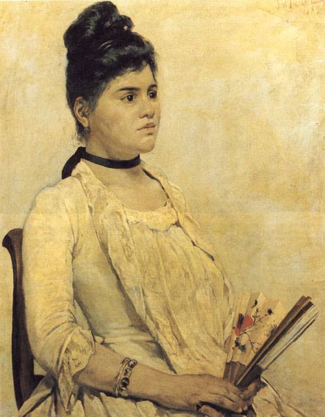Giovanni Fattori. A portrait of his daughter Florence