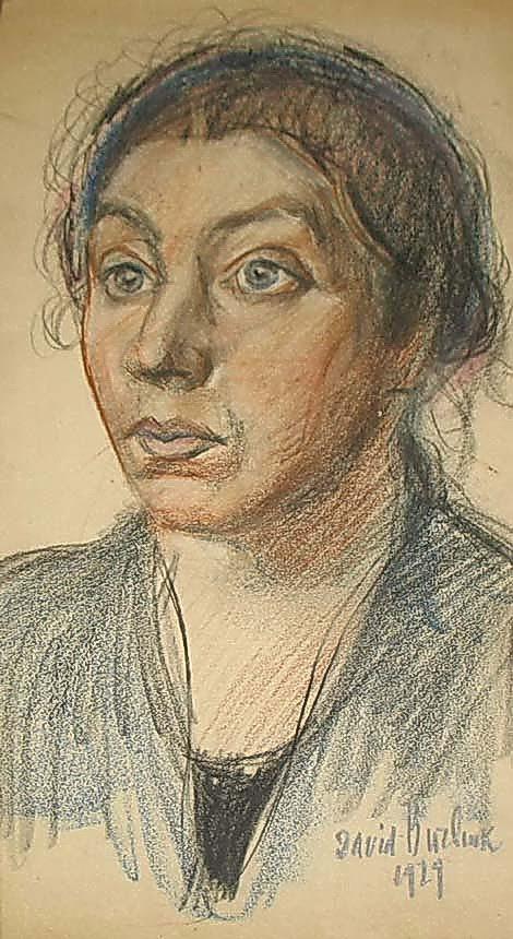 Давид Давидович Бурлюк. Портрет жены художника