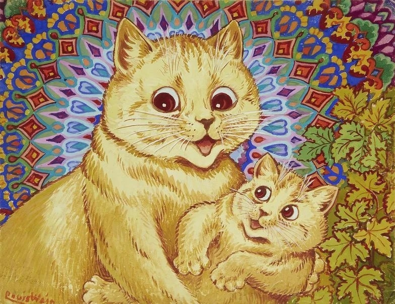 Louis Wain. Mother and child