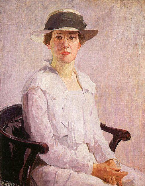 Герман Вессель. Сидящая женщина в белом