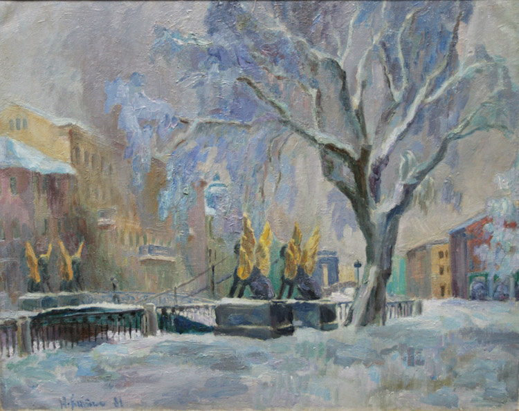 Nikolay Nikolaevich Antipin. Winter in Petersburg