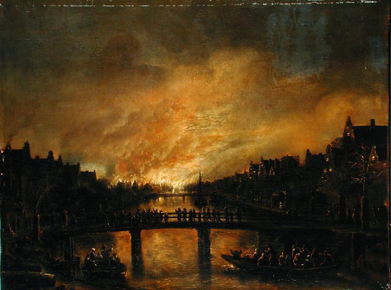 Арт ван дер Нер. Пожар в Амстердаме