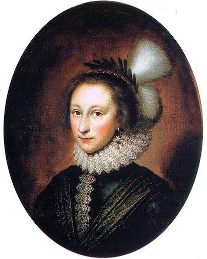 Корнелиус Джонсон. Портрет женщины