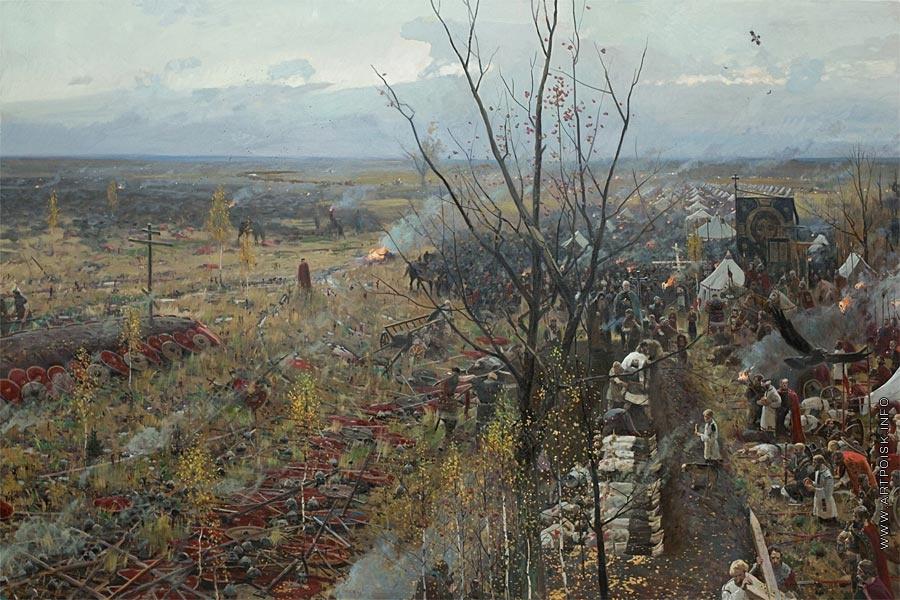 Pavel Viktorovich Ryzhenko. The Field Of Kulikovo. Standing on the bones.