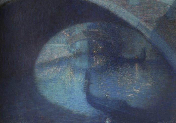 Дурмер Луциан Леви. Сцена в Венеции