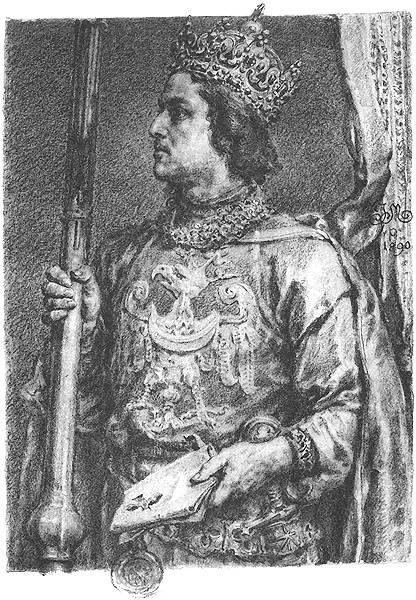"Jan Matejko. Przemysl II. Series ""Portraits of Kings and Princes of Poland"""