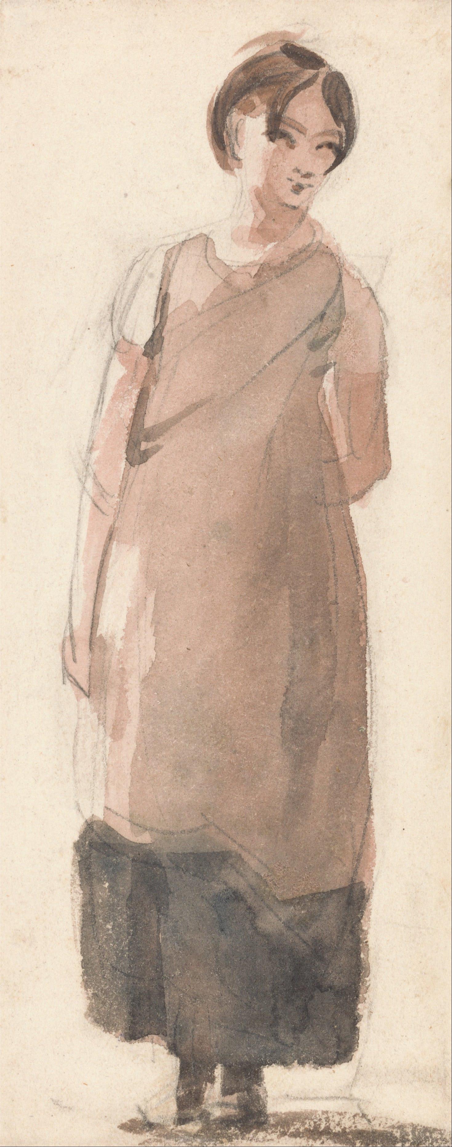 John Constable. Portrait of a peasant girl