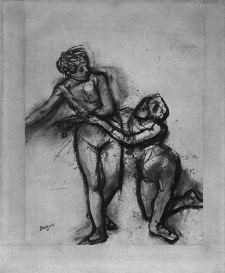 Эдгар Дега. Две балерины в трико