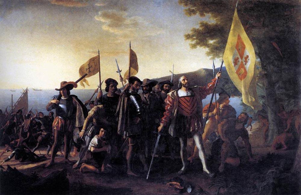 """Колумб высадка в Гуанахани в 1492 году"" Джон Вандерлин"