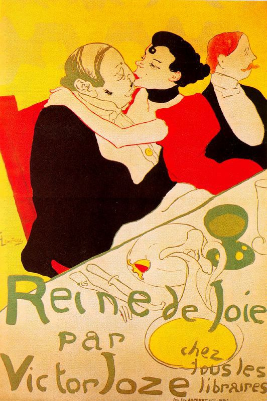 Анри де Тулуз-Лотрек. Крепкие объятия (плакат)