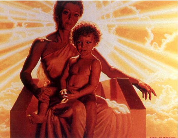 Грег Хильдебрандт. Мать с ребенком