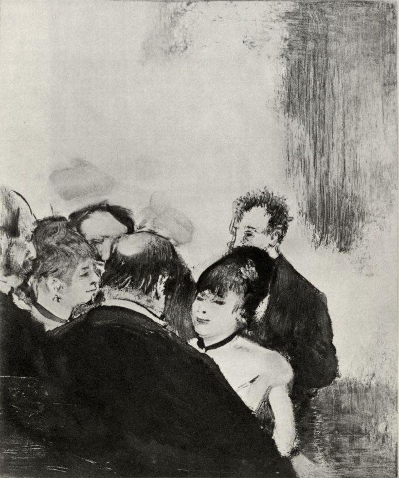 Эдгар Дега. Малютка Кардиналь, разговаривающая с поклонником