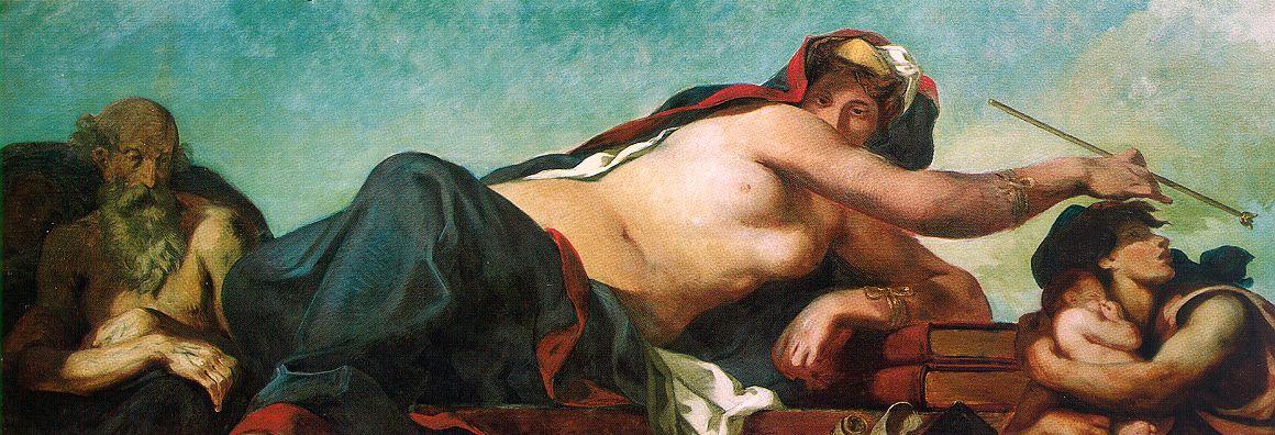 Эжен Делакруа. Юстиция. (фрагмент росписи дворца Бурбонов в Париже)
