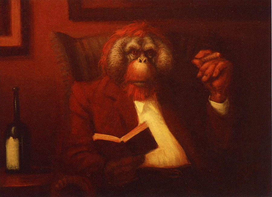 Ричард Литгоу. Обезьяна с книгой