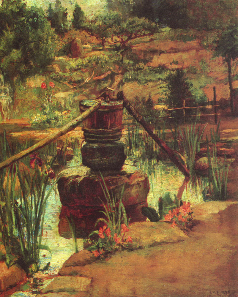Джон Лафарг. Фонтан в саду