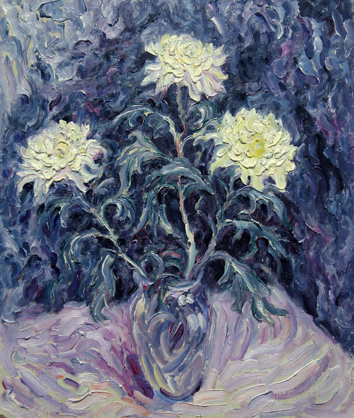 Alexey Vladimirovich Konstantinov. White chrysanthemums