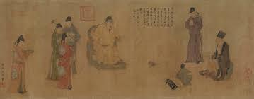 Чжан Го на приеме у императора Минхуана