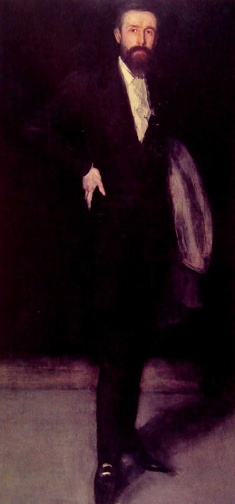 James Abbot McNeill Whistler. Arrangement in black: Portrait of F. R. Leyland
