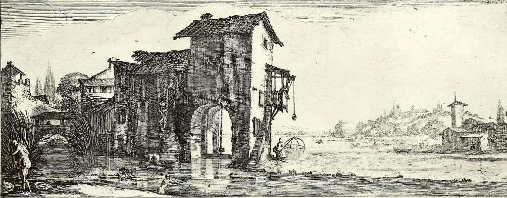 Жак Калло. Водяная мельница