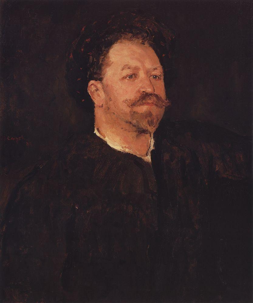 Валентин Александрович Серов. Портрет итальянского певца Франческо Таманьо