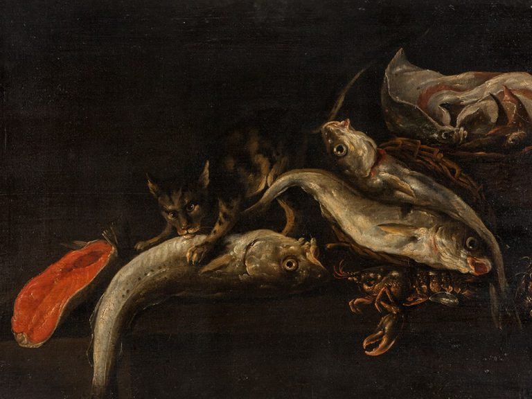 Исаак ван Дуйнен. Натюрморт с рыбой