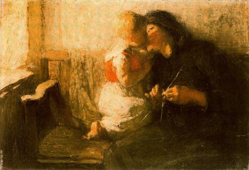 Лора Найт. Женщина с ребенком