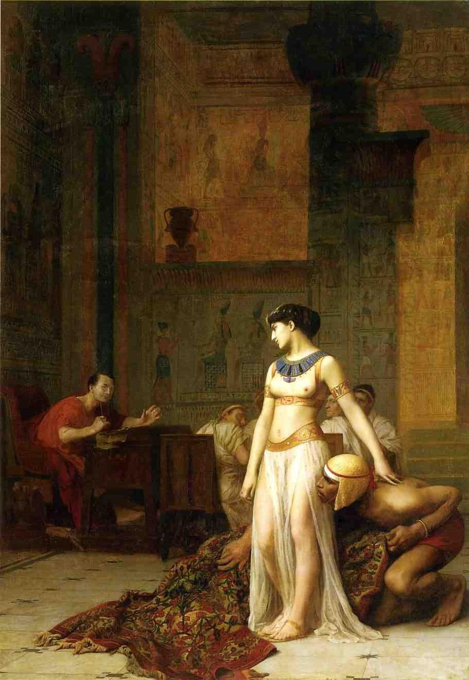 Jean-Leon Jerome. Cleopatra before Caesar