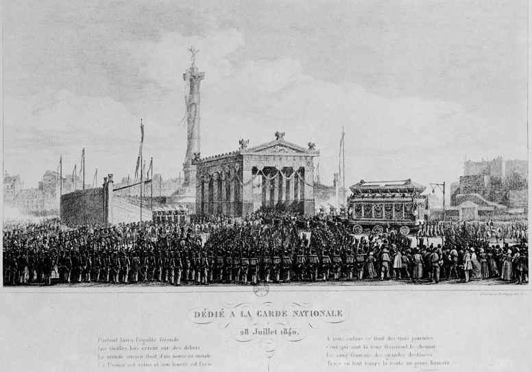Шарль-Франсуа Добиньи. Открытие церемонии освящения триумфальной колонны