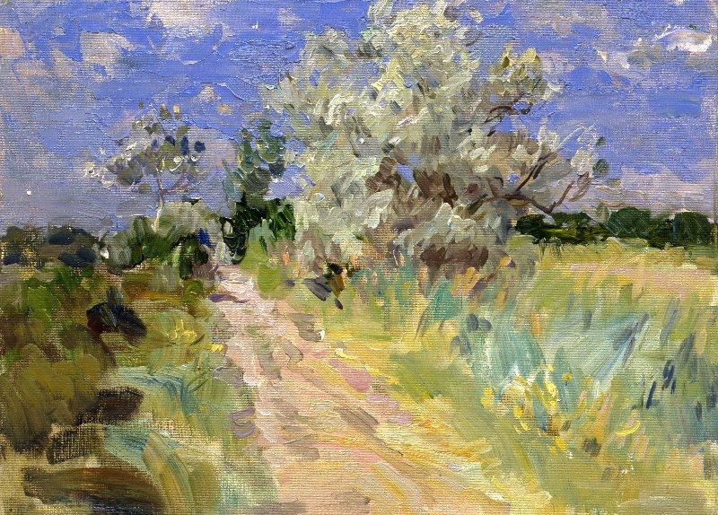 Yuri Krotov. The road in the field.