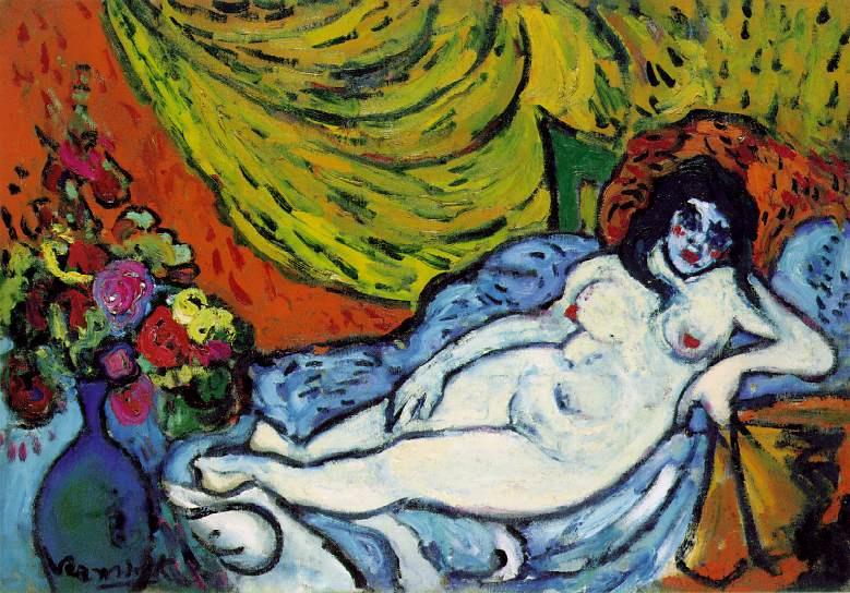 Maurice de Vlaminck. Nude on a sofa