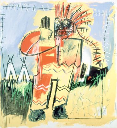 Jean-Michel Basquiat. Tobacco against the leader of the Redskins