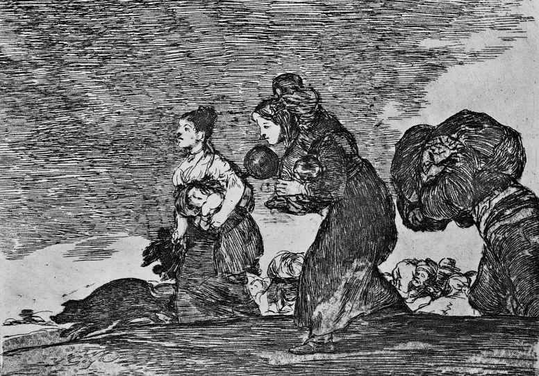 """Франсиско Гойя. Серия """"Бедствия войны"""", лист 45: А также и это"""