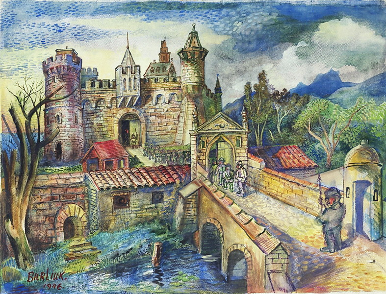 Давид Давидович Бурлюк. Английский замок