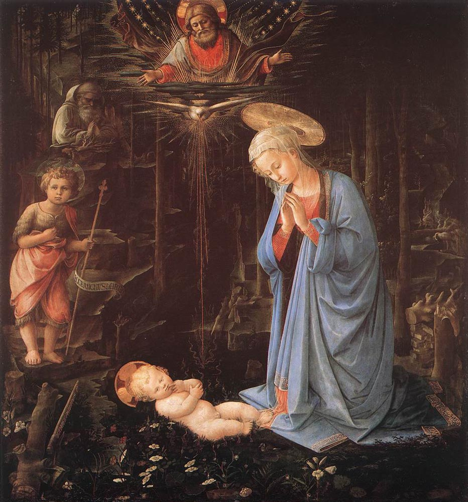 madonna and child with angels by fra filippo lippi