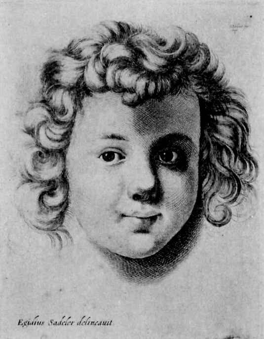 Венцель Холлар. Детская голова