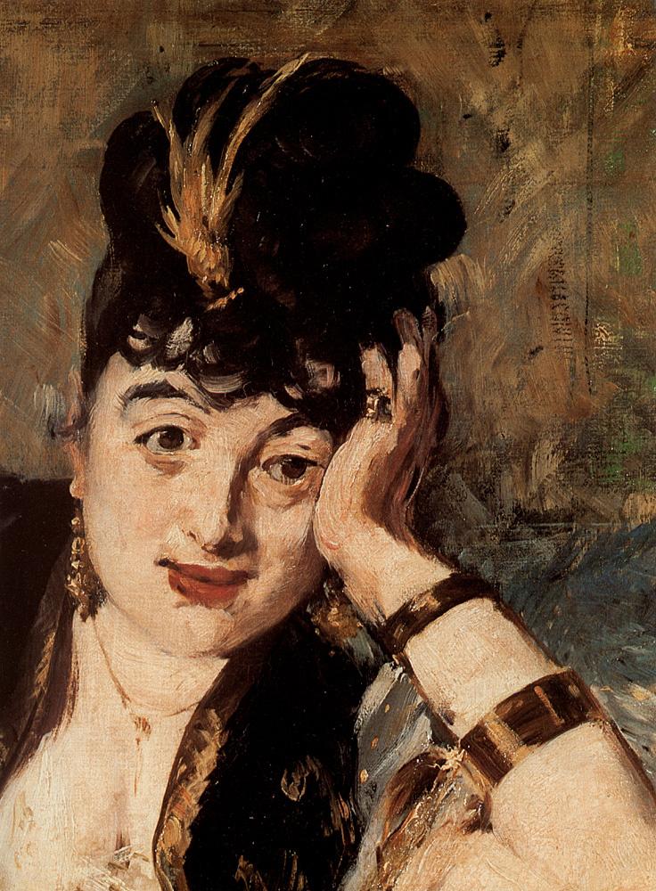 Edouard Manet. Woman with fans. A portrait of Nina de Callia(fragment)