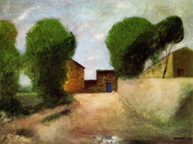 Карло Карра. Зеленые деревья