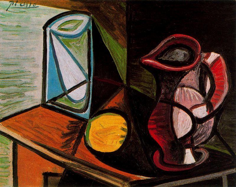 Пабло Пикассо. Бокал и кувшин