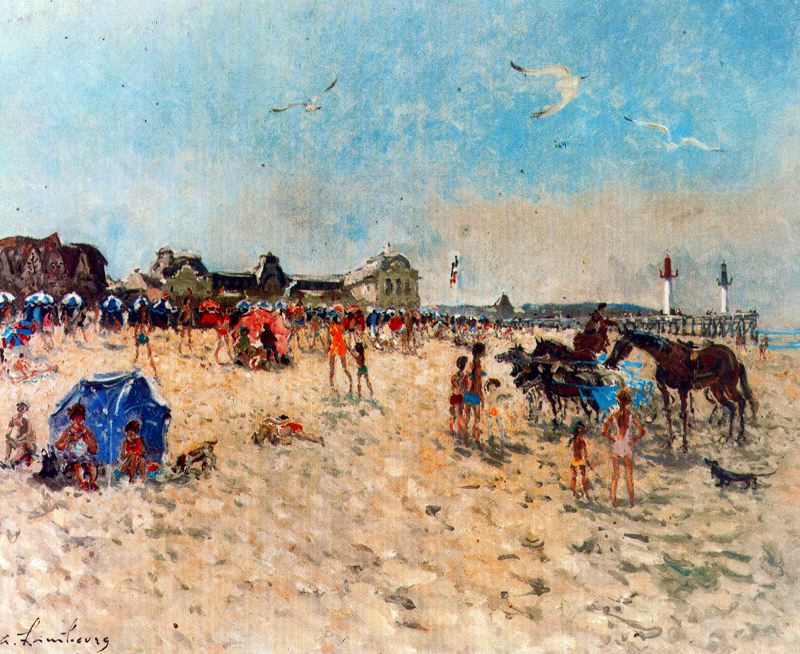 Андре Хамбоург. Пляж
