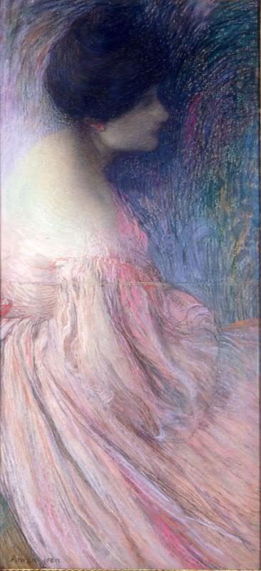 Эдмон Франсуа Аман-Жан. Женщина в розовом платье