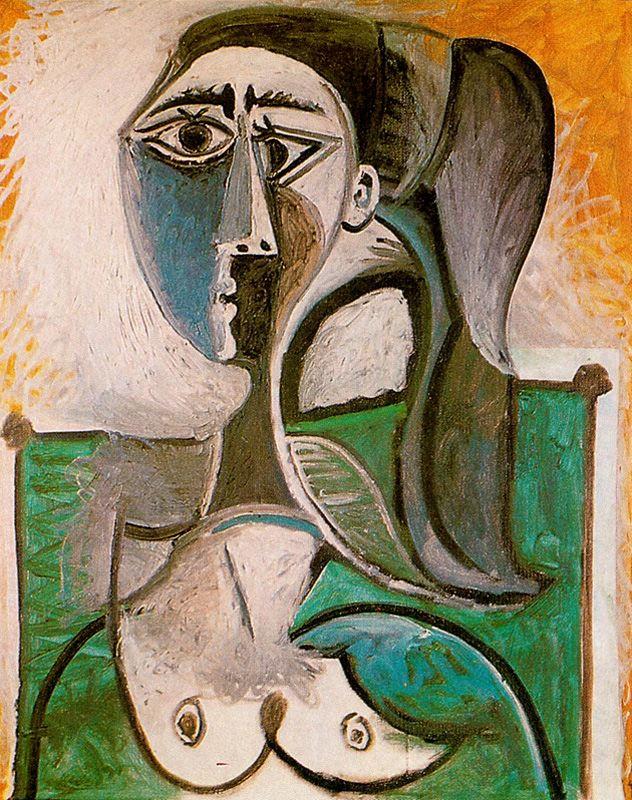 Пабло Пикассо. Портрет сидящей женщины