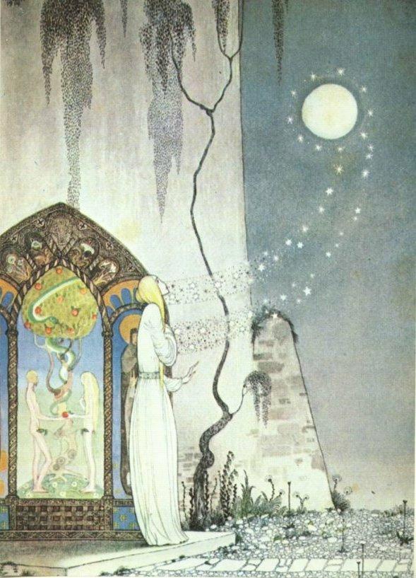 Кей Нильсен. Иллюстрация к  сказке  На восток от солнца, на запад от луны 02