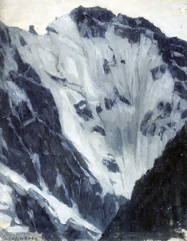 Василий Иванович Суриков. Снежные горы