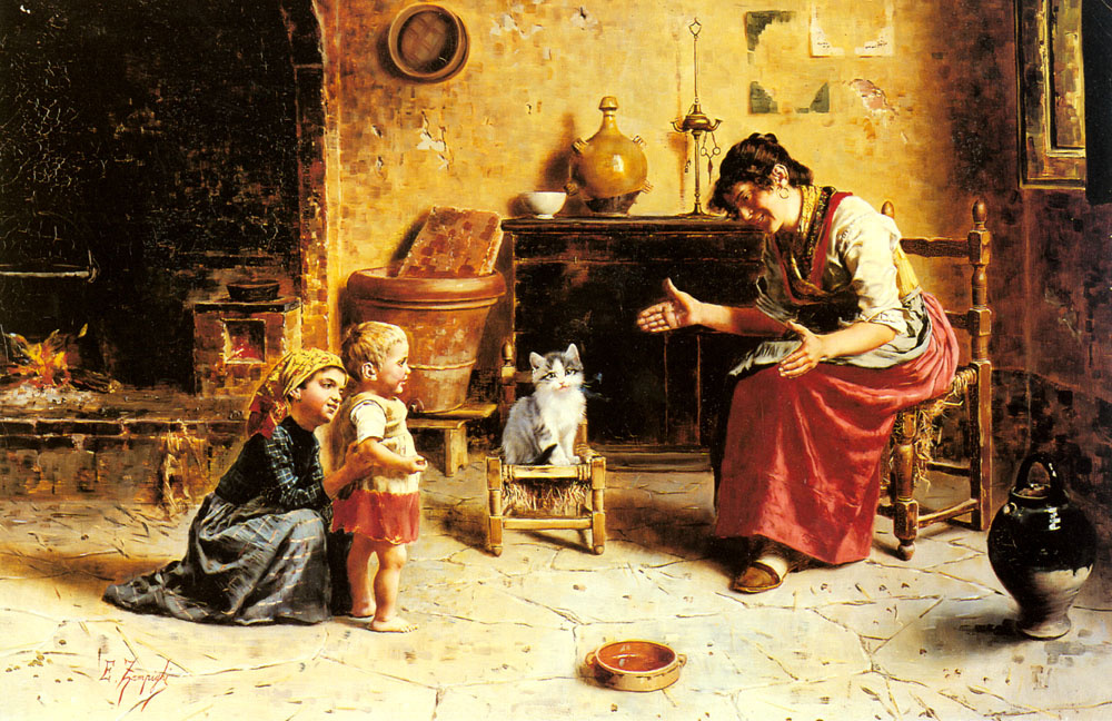 Эухенио Зампиги. Первые шаги детей