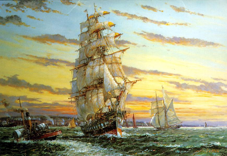 Джон Саттон. Белые паруса