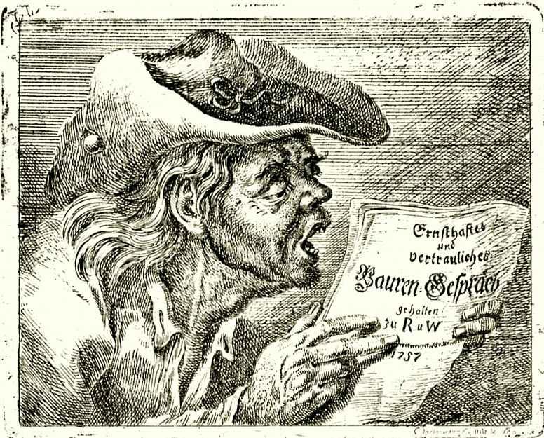 Даниэль  Николай Ходовецкий. Читающий старый крестьянин