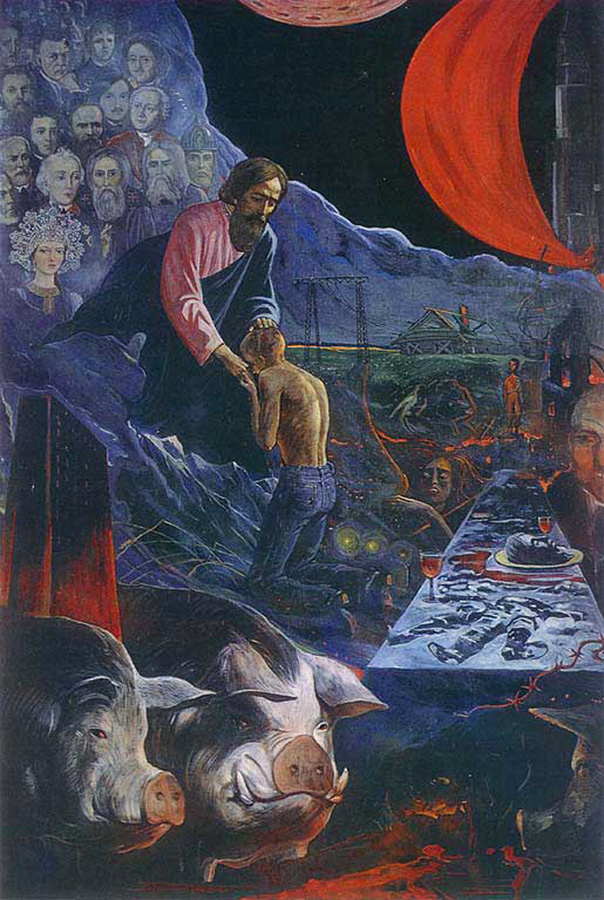 Ilya Sergeevich Glazunov. The return of the prodigal son.1977
